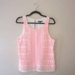 American Eagle, Tank w/Crochet Lace Overlay